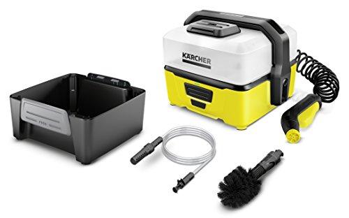 Kärcher Mobile Outdoor Cleaner OC 3 Adventure Box (Wassertankvolumen: 4 l, Lithium-Ionen-Akku, abnehmbarer Wassertank, schonender Niederdruck, Universalbürste, Ansaugschlauch)