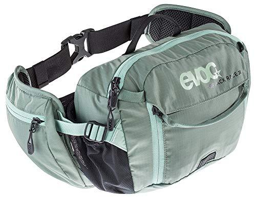 EVOC Sports GmbH HIP Pack Race 3L + 1.5L Bladder Hüfttasche, Olive-Light Petrol, ONE Size