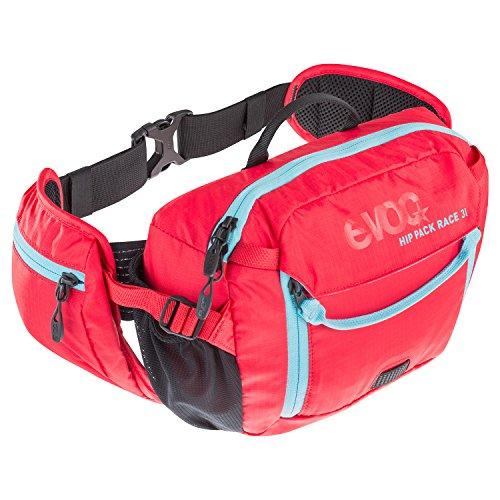 evoc HIP Pack Race 3L + 1.5L Bladder Hüfttasche, Olive-Light Petrol, ONE Size