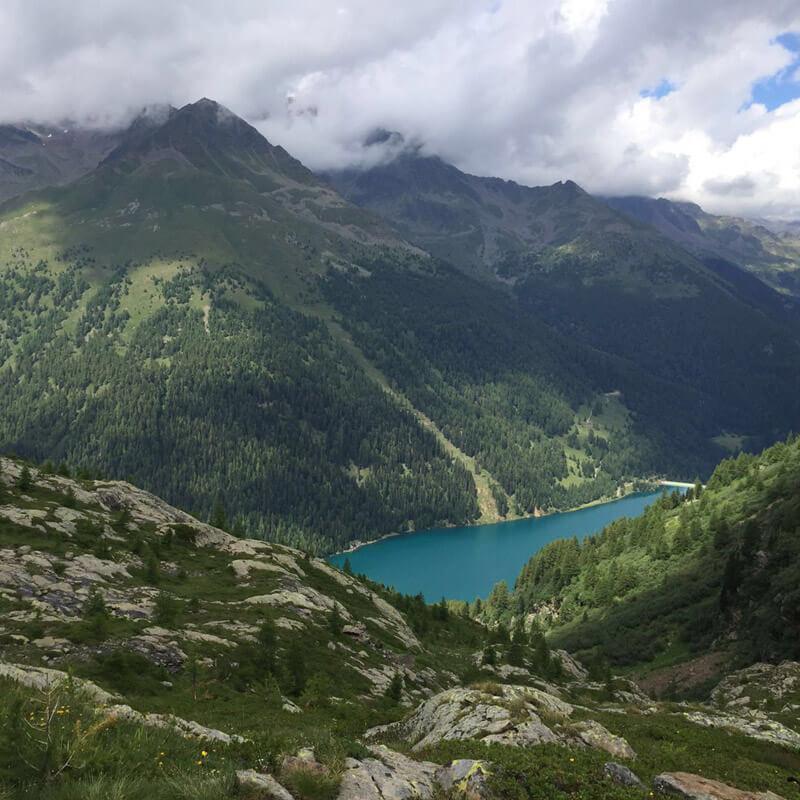 Blick auf den Lago di Pian-palu