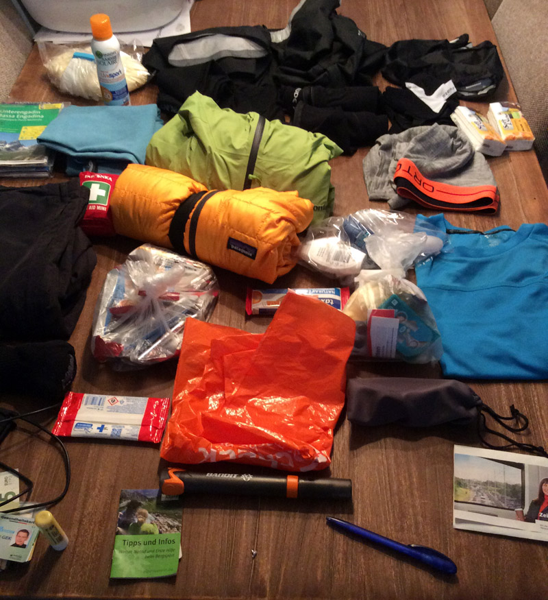 Packliste Alpencross