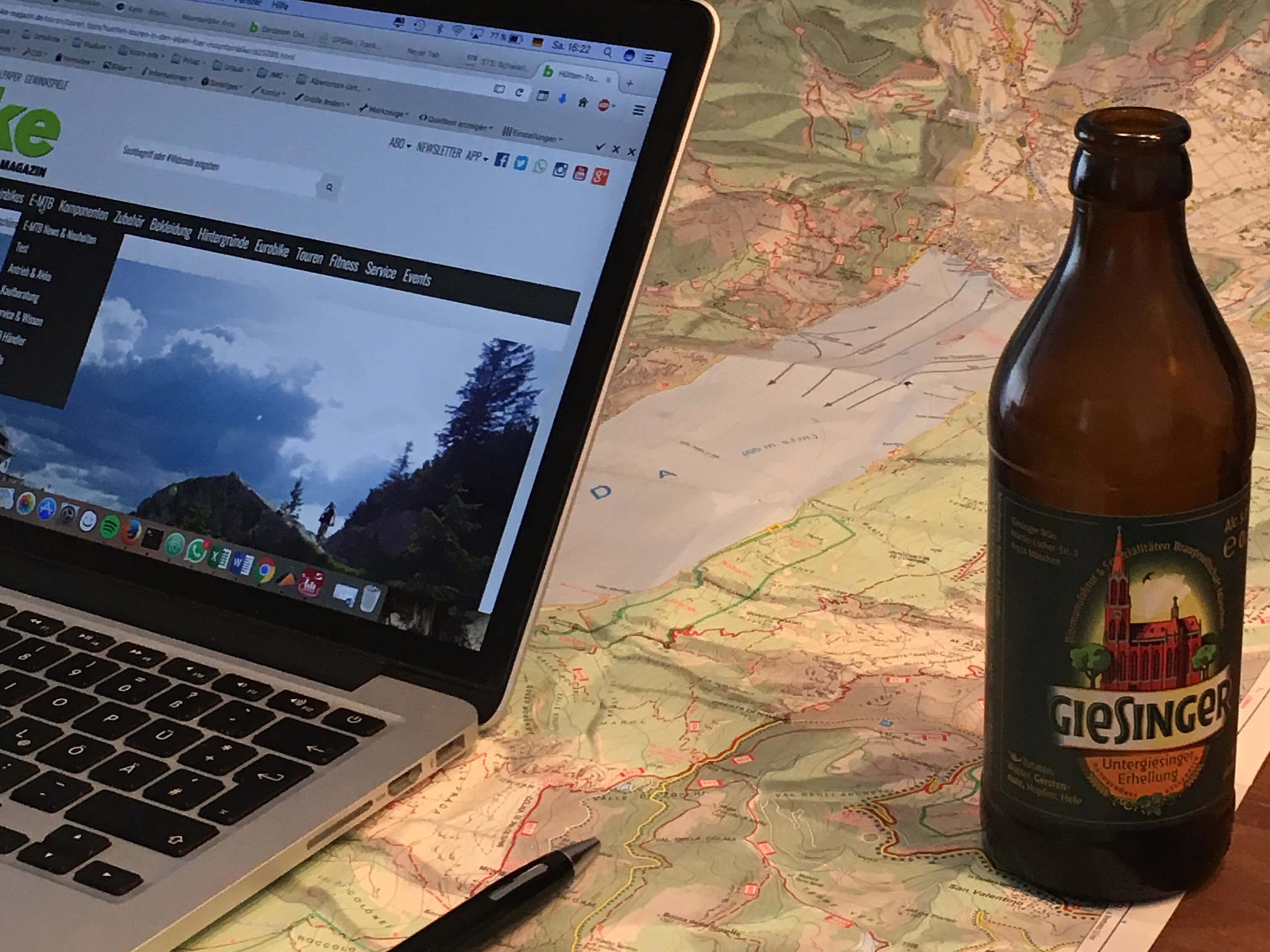 Alpencross Planung