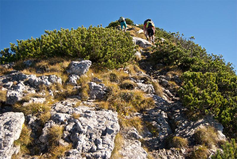 Aufstieg zum Roßstein