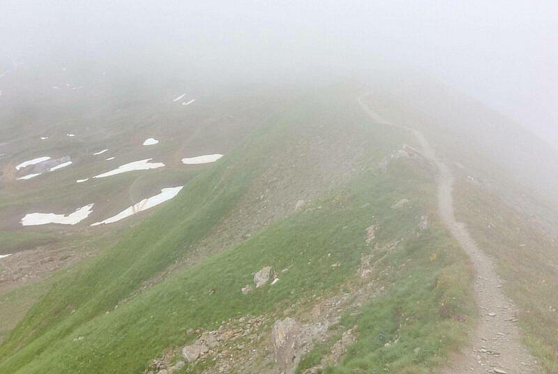 Trail auf dem Grat