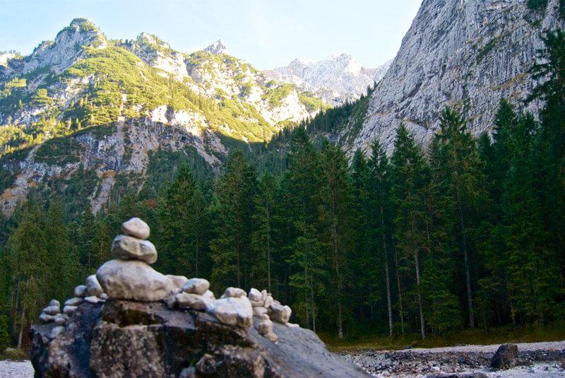 Steinmännchen an der Bockhütte