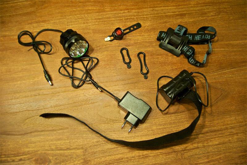 MTB Helmlampe Lieferumfang