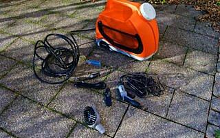 Der Red Cycling Products PRO Druckreiniger mit Zubehör
