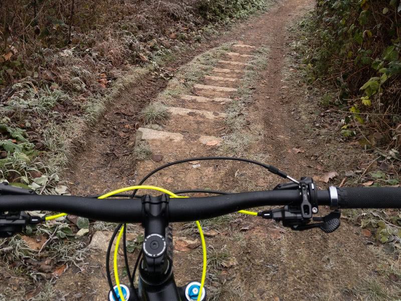 Cube Stereo auf dem Trail