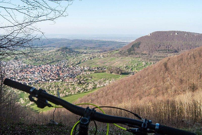 Bim Biken auf der Alb findet man immer wieder schöne Aussichtspunkte