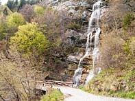Wasserfall auf der Abfahrt