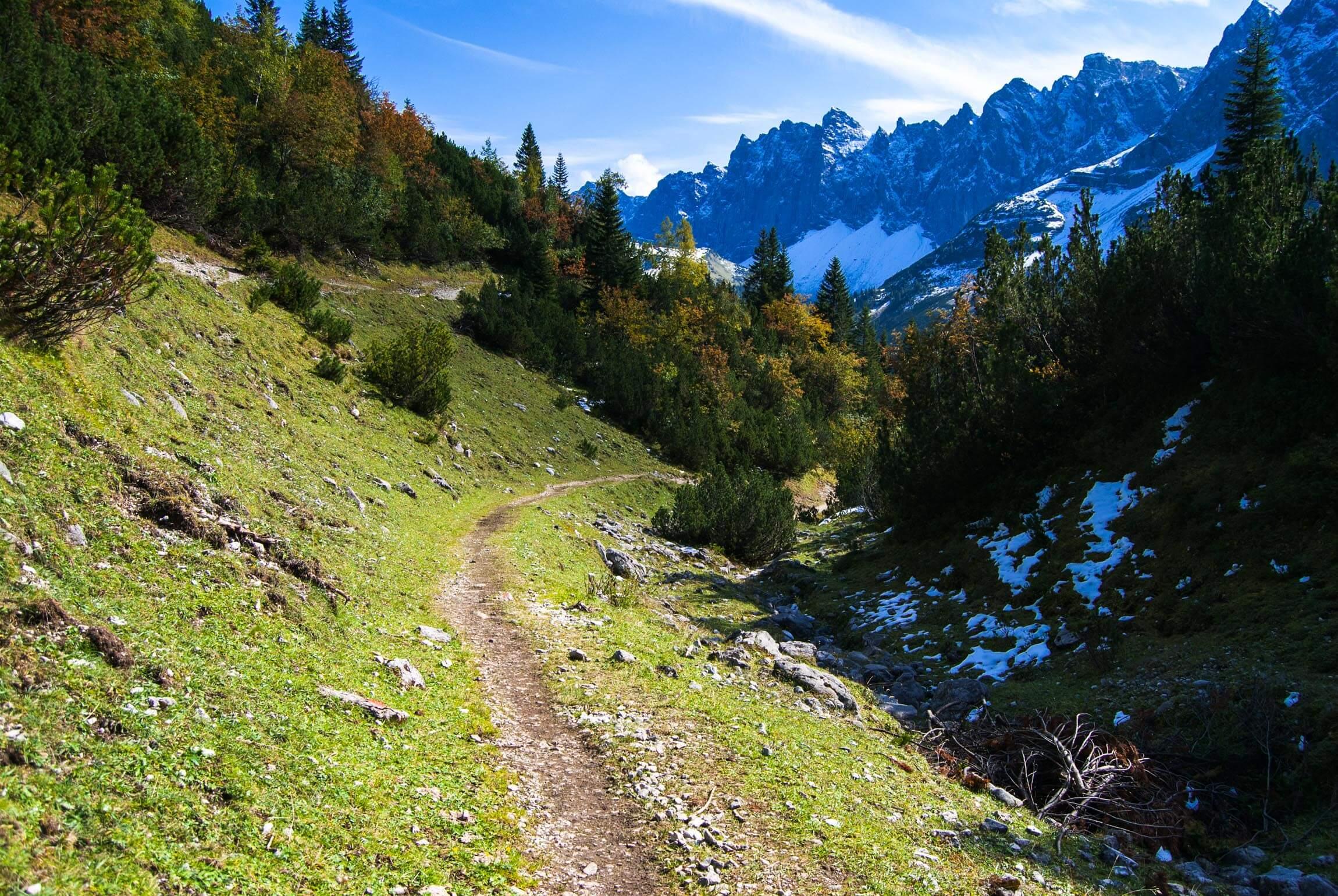 MTB Trail vom Karwendelhaus zum kleinen Ahornboden