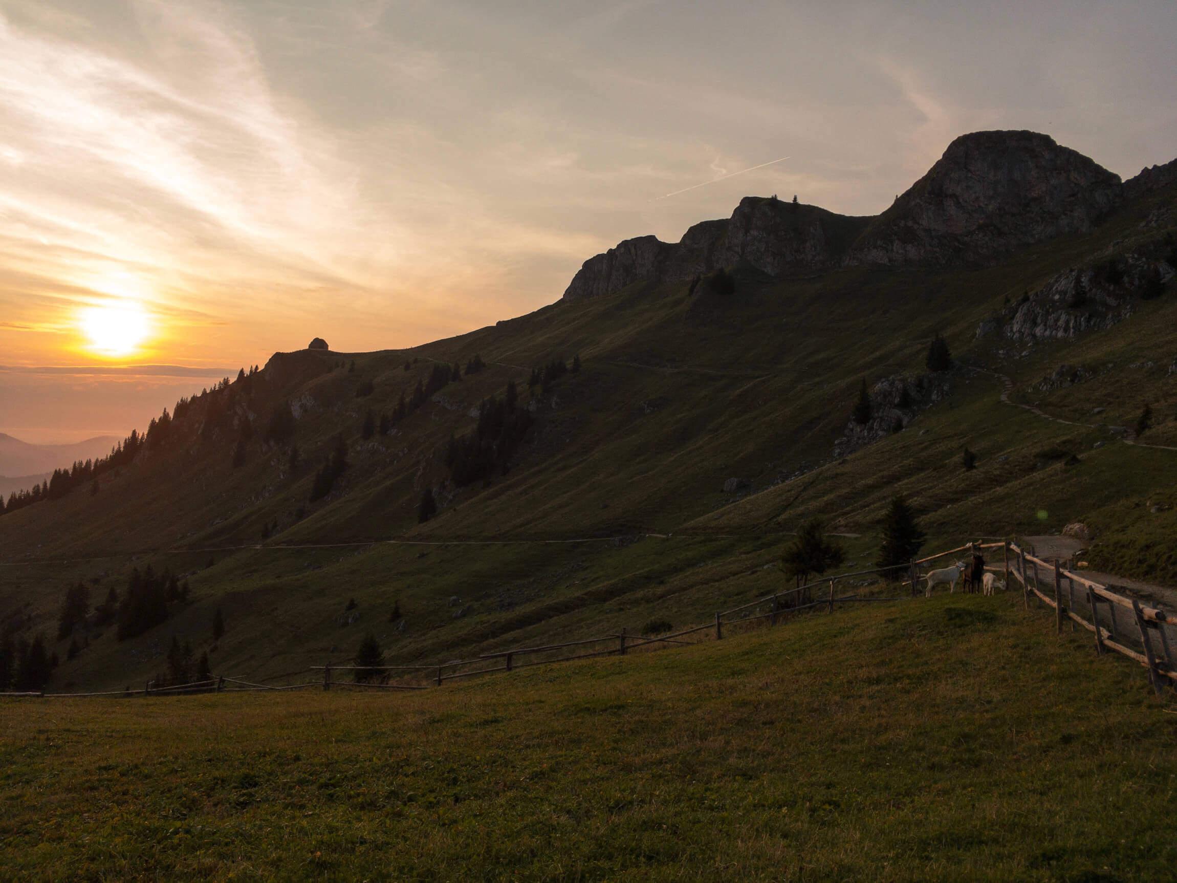 Sonnenuntergang an der Rotwand