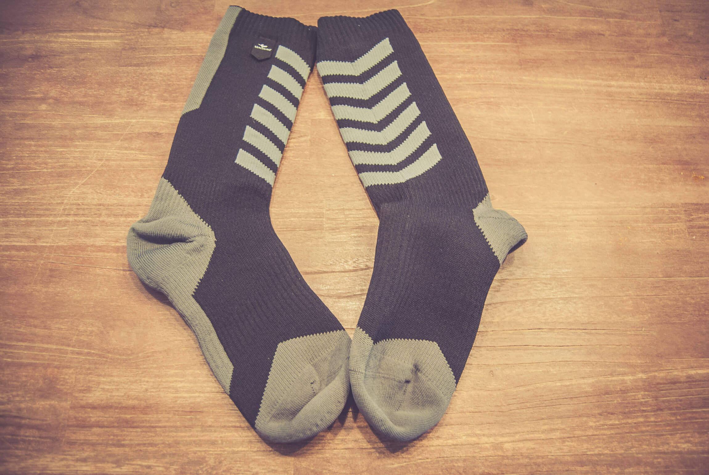 Wasserdichte MTB Socken für den Winter