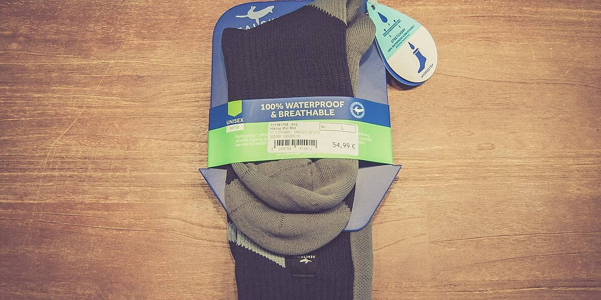 Wasserdichte Mountainbike Socken von Sealskinz