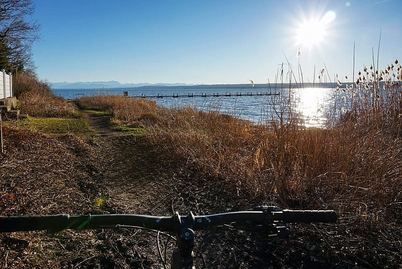 MTB Trail am Ufer des Ammersee