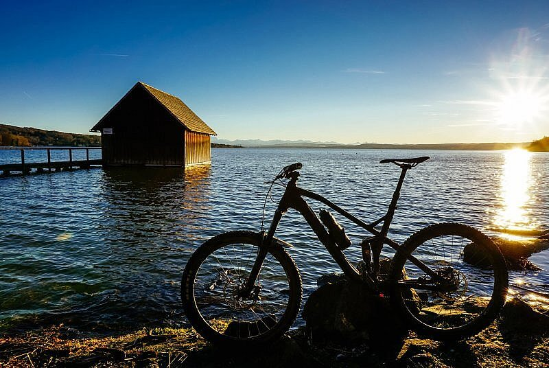 Mountainbiken am Ammersee