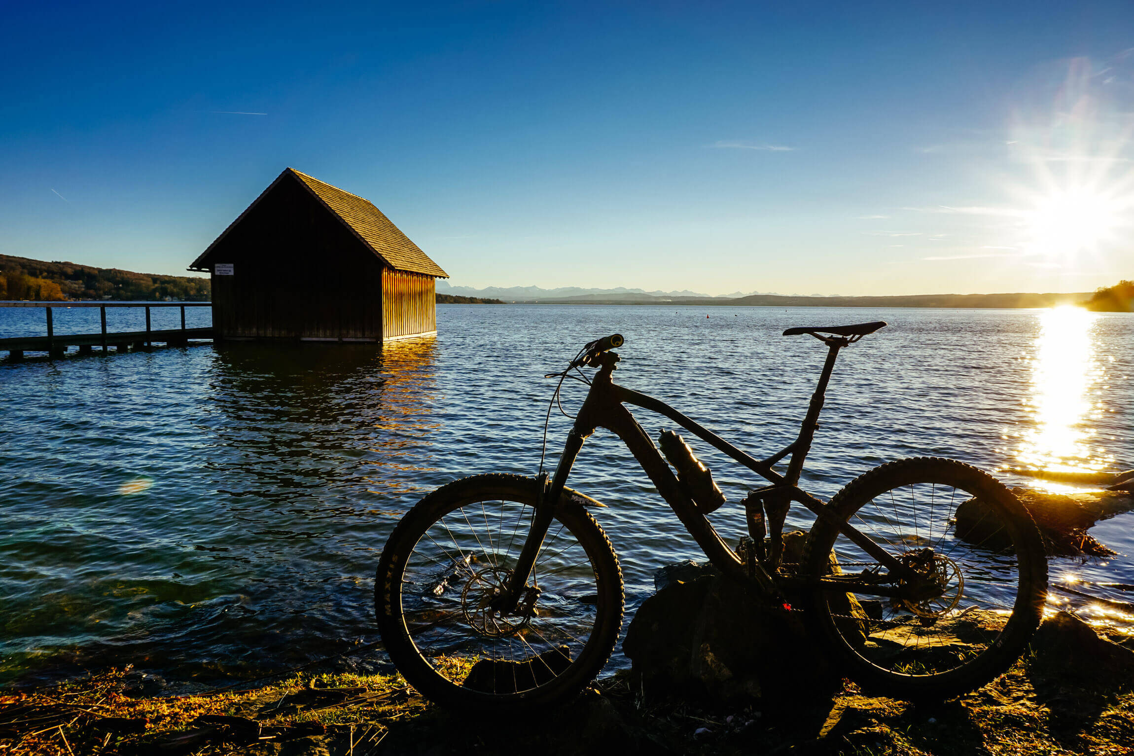 Mountainbiken am Ammersee