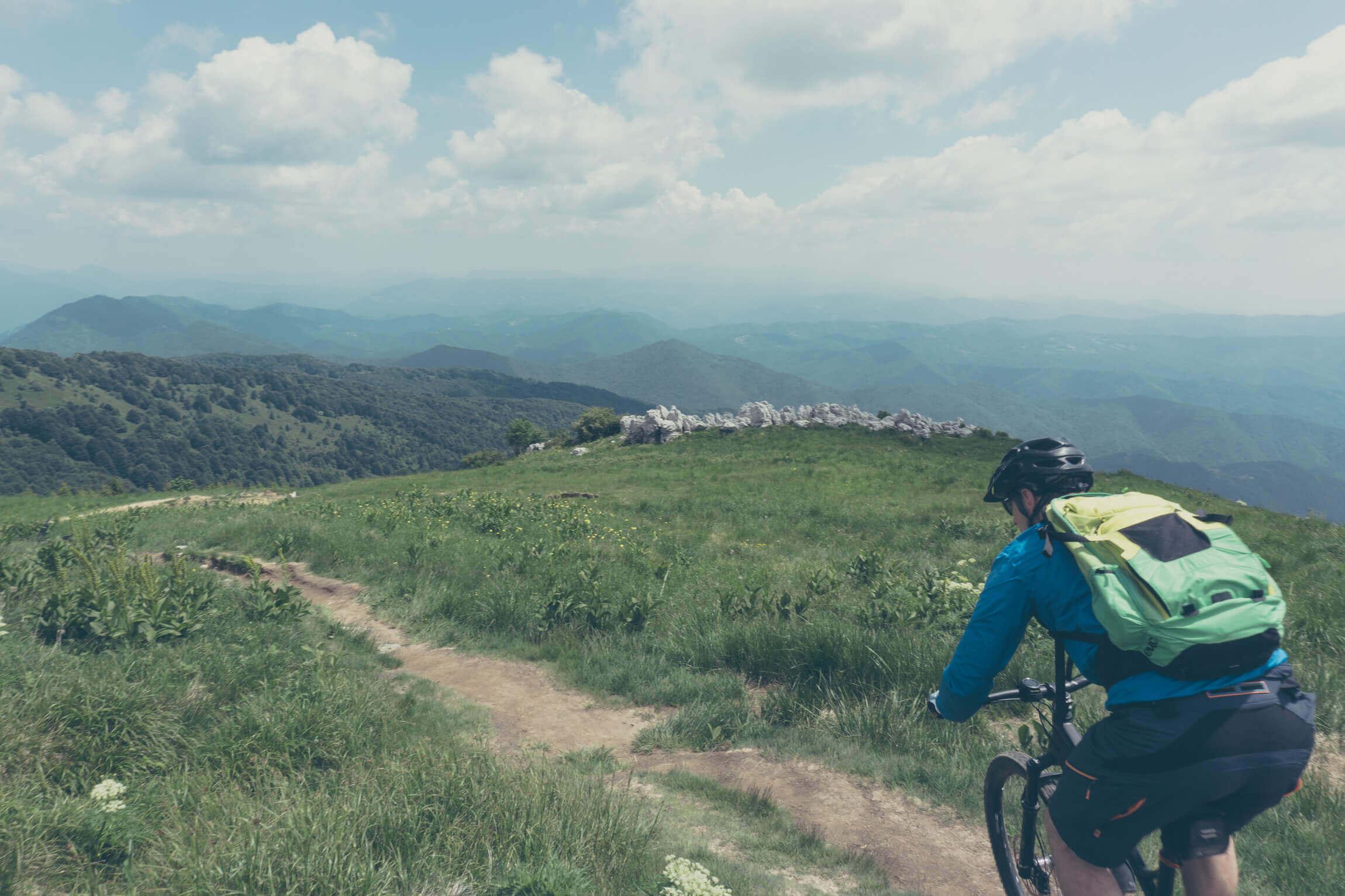 MTB Lupo auf dem Trail