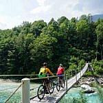 Mit dem MTB von Bovec nach Kobarid durch's Soča Tal