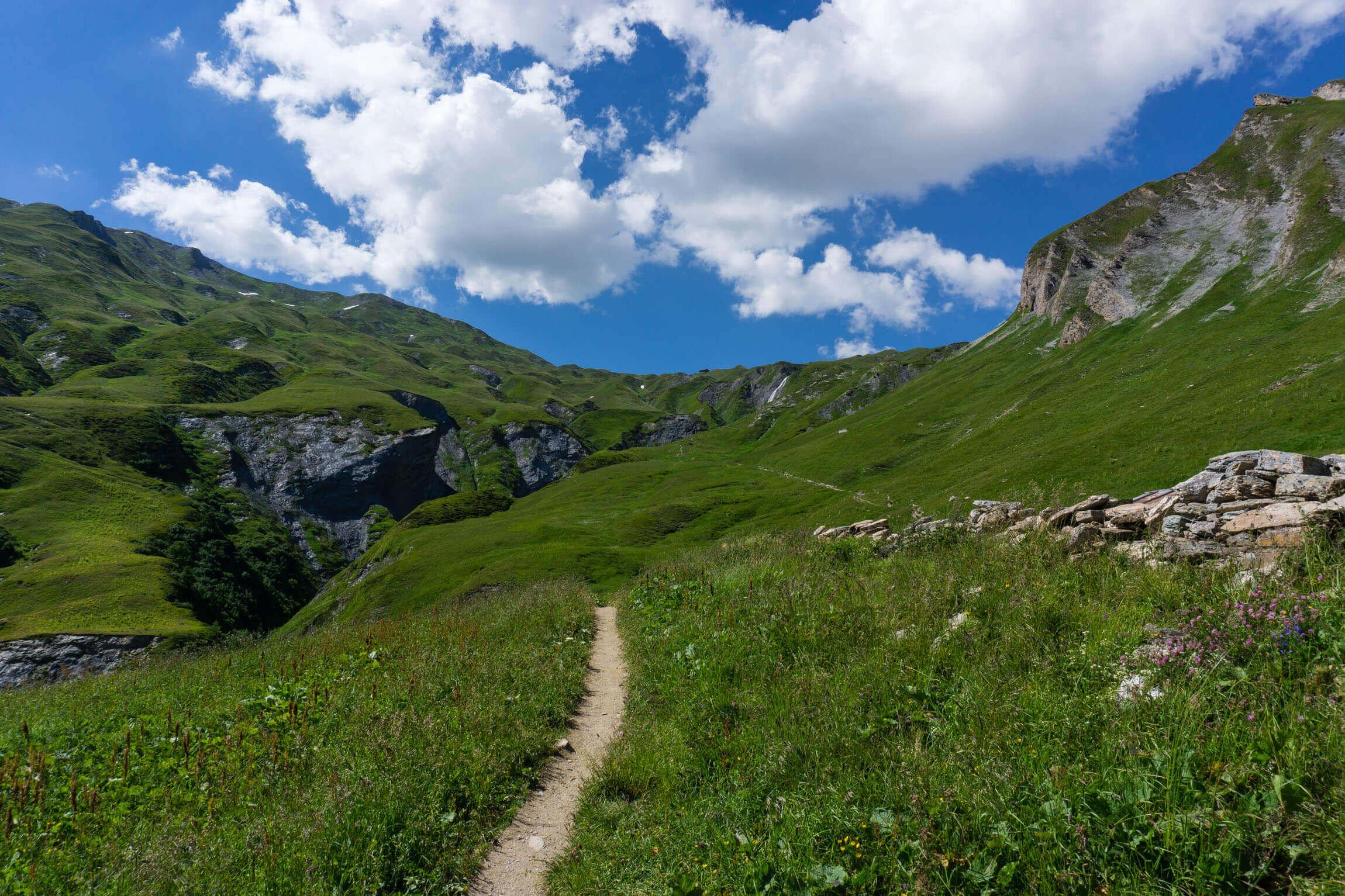 Auftieg Refuge du Col de la Croix du Bonhomme