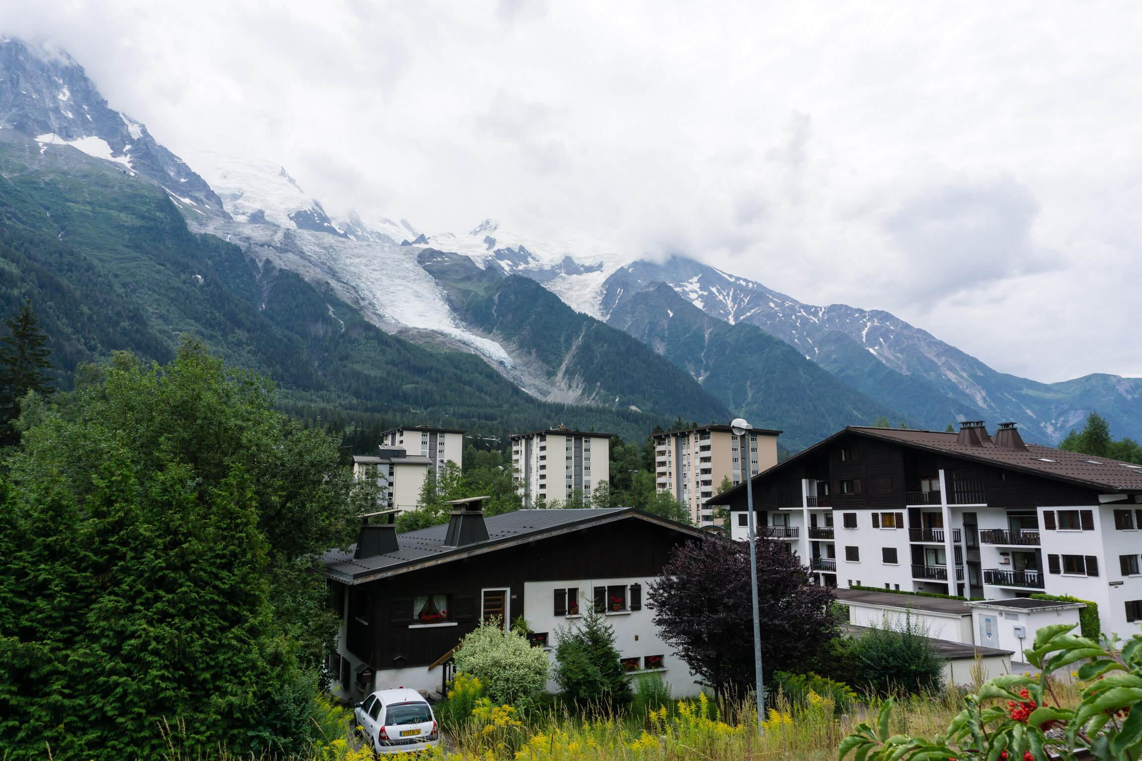 Glacier des Bossons ueber Chamonix