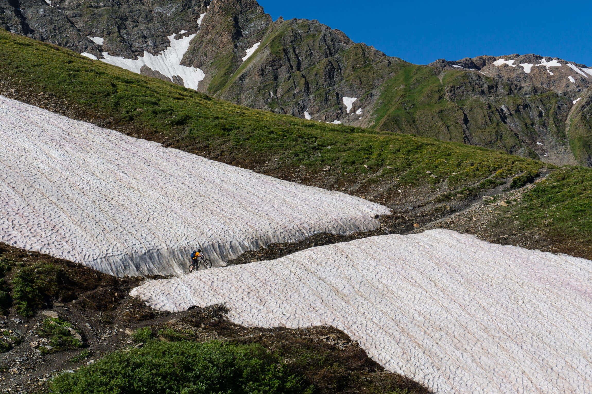 Tour Mont Blanc Schneefeld