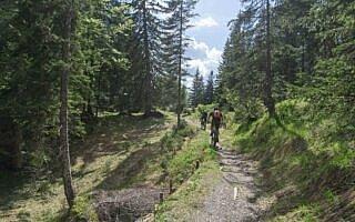 Die letzten Meter vor der Hochkopfhütte