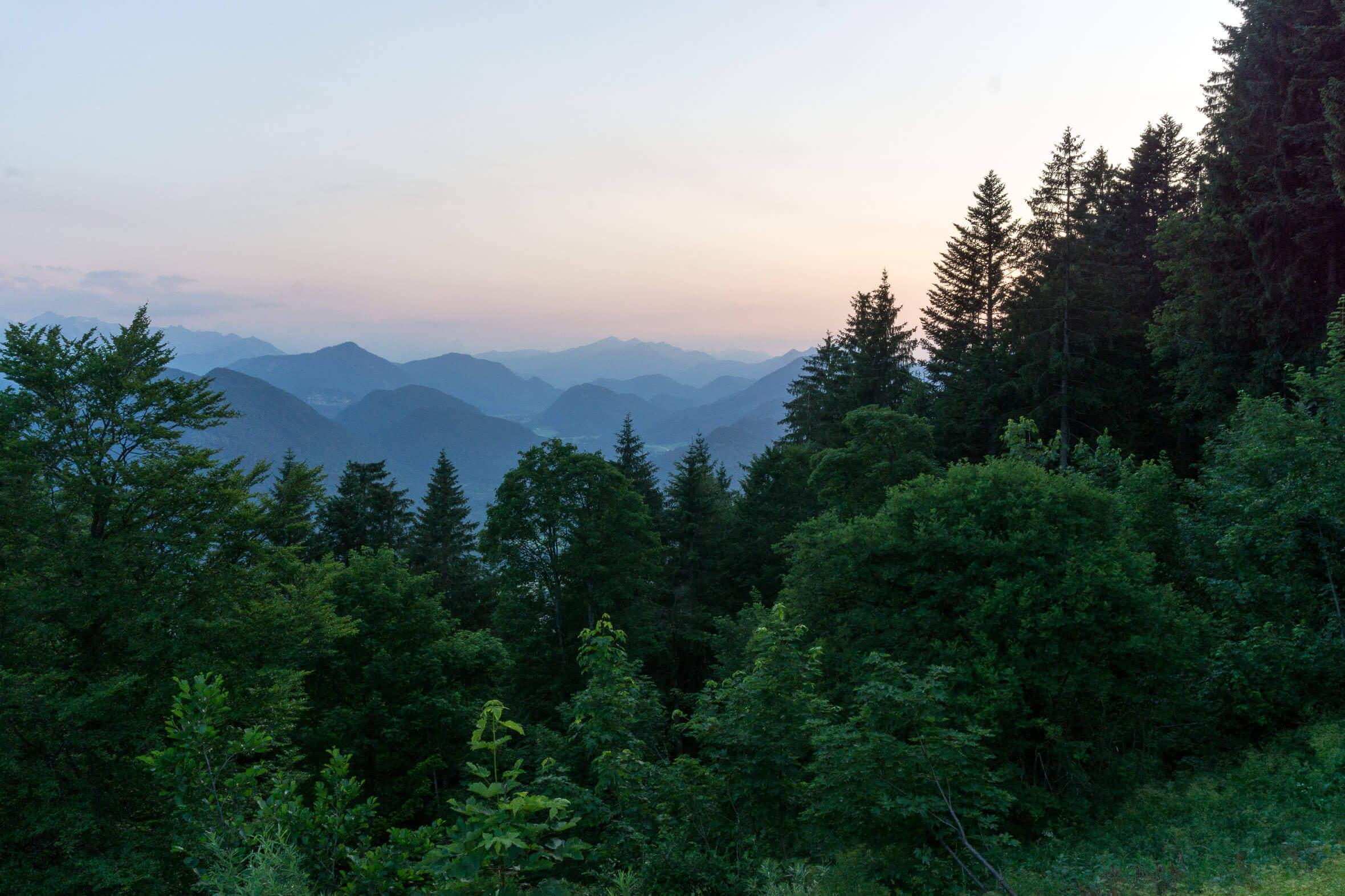 Aussicht von der Lenggrieser Hütte