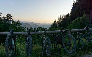 Mountainbikes an der Lenggrieser Hütte