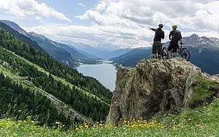 Aussichtspunkt 3 Länder Trails am Reschensee