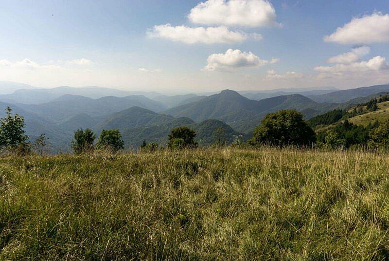 Blick vom Kolovrat in Richtung Süden