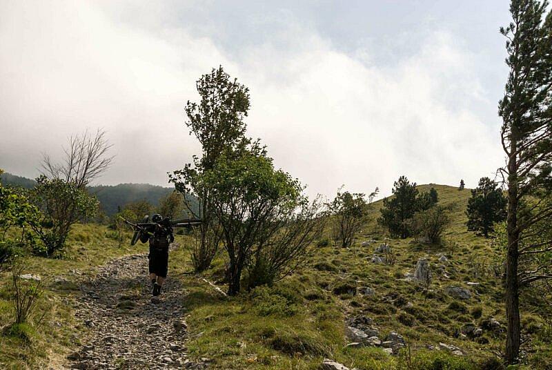 Tragepassage auf dem Nanos Plateau