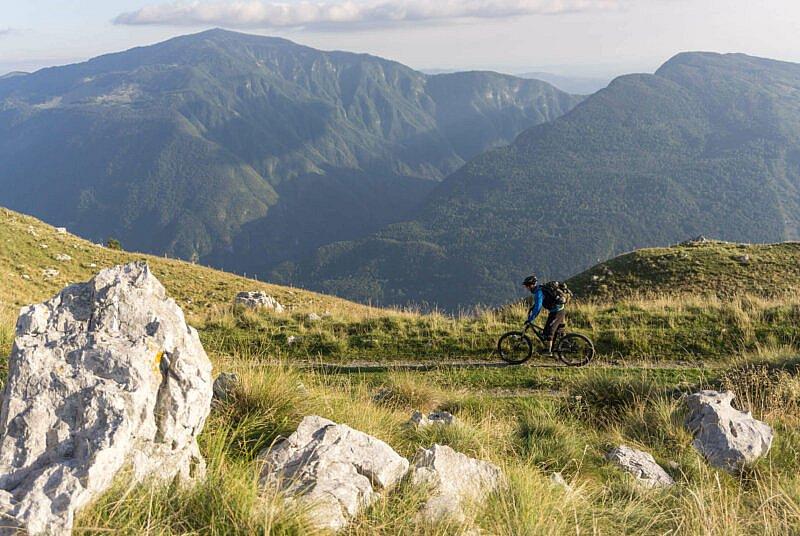 Trail Abfahrt vom Stol
