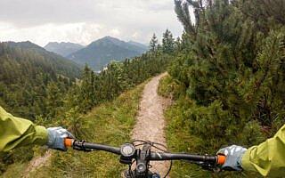 Trail vom Trainsjoch