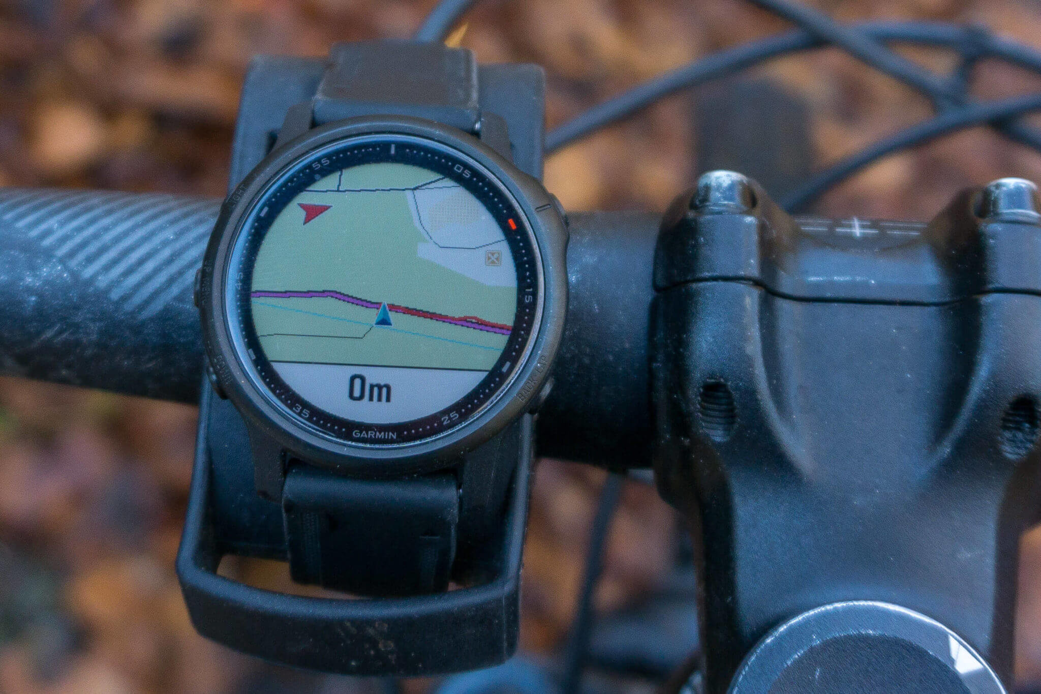 Navigation am Mountainbike mit der Fenix 6