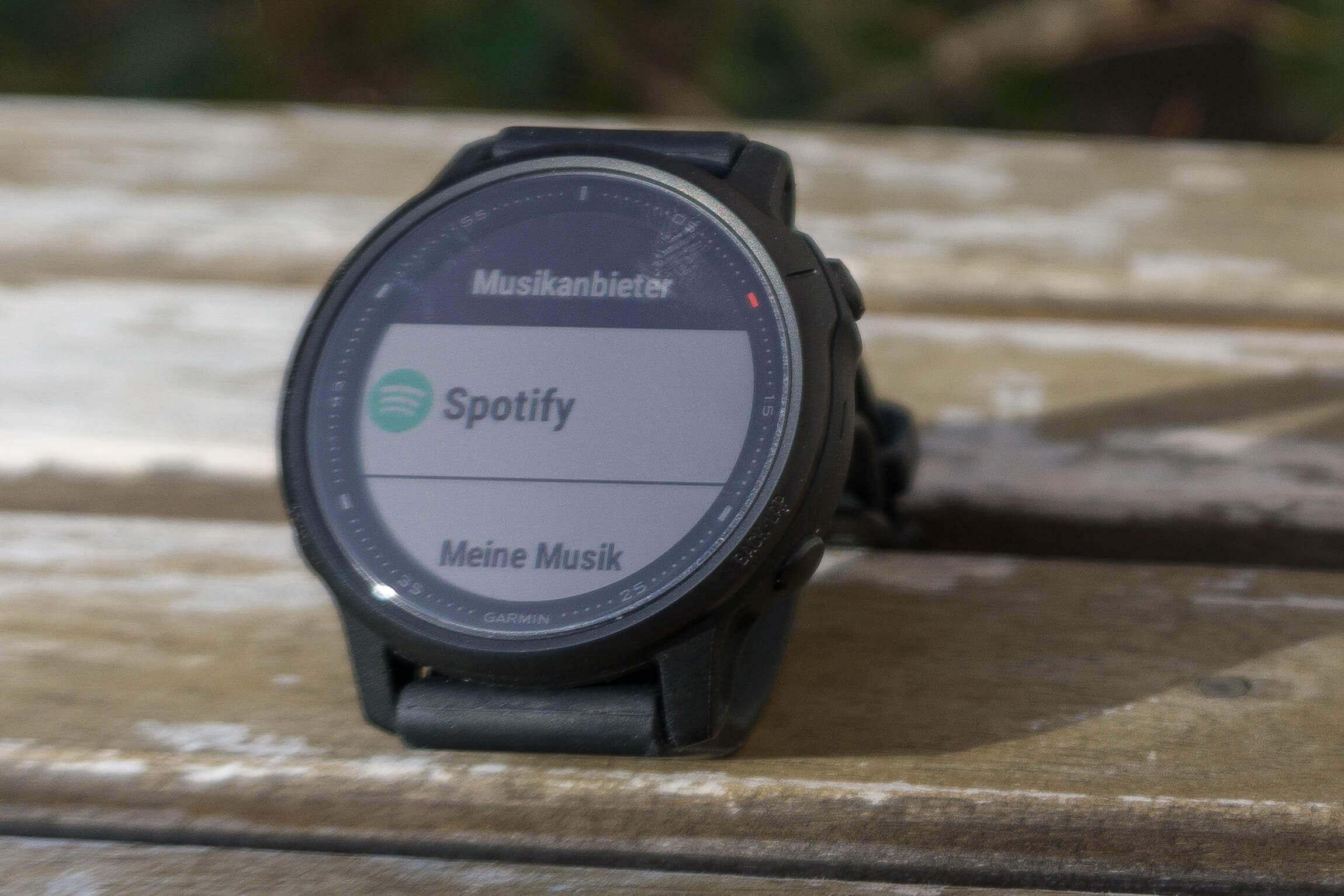 Spotify App der Fenix