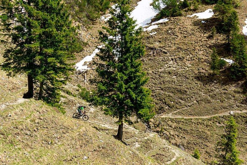 Trail zur Ohlstädter Alm